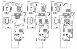 Free Download Different  Furniture Lay Out Of Bungalow AutoCAD File