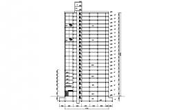 Free Download High Rise Building Section AutoCAD Drawing