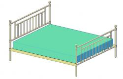 Free Download MS Double Bed Design In 3D MAX File