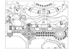 Free Download The Landscape Design Of Hotel AutoCAD File