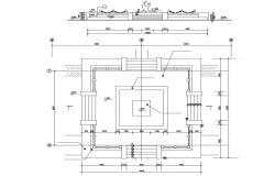 Free Download The Plan And Elevation Of Planter AutoCAD File