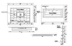 Free TV Unit CAD Drawing