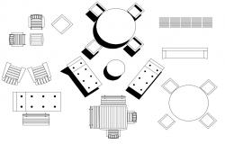Free Table And Chair CAD Blocks