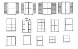 Free Window CAD blocks