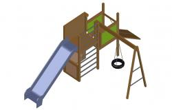 Free download Garden Playing Equipment 3d CAD drawing