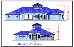 Front & Left Side Bungalows Elevation