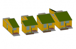 Front , back and sectional elevation detail dwg file