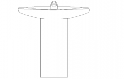 Front Side Standing Wash Basin Design