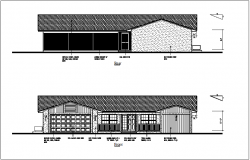 Front and rear view of house dwg file