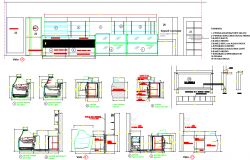 Front elevation Ice cream shop layout file