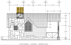 Front elevation detail dwg file