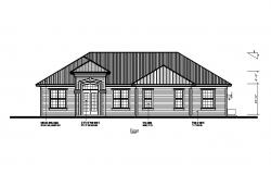 Front elevation details of one story house cad drawing details dwg file