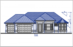 Front elevation details with dimension details dwg files