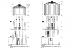 Front elevation high reservoir layout file