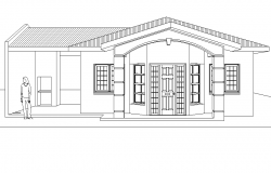 Front elevation home plan autocad file