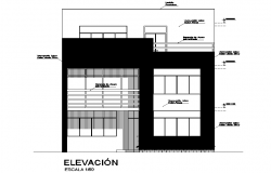 Front elevation home plan detail dwg file