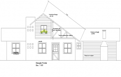 Front elevation home plan dwg file