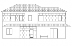 Front elevation home plan layout file