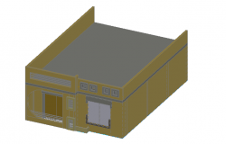Front elevation of a house dwg file