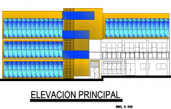 Front elevation universal plan detail dwg file