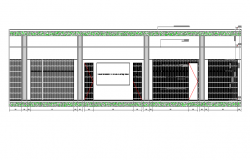 Front main elevation details of corporate office dwg file