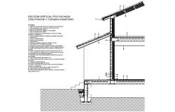 Front porch vertical section dwg file