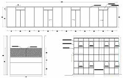 Front sectional details of building