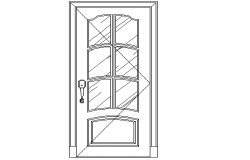 Front sectional elevation of door