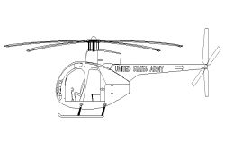 Front view of helicopter detail
