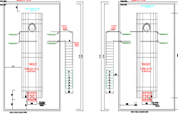 Fuel Plant Air Field Architecture Layout and Section dwg file