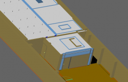 Full 3 d office plan detail dwg file