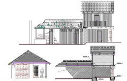 Full Construction Details of Residential House with Elevation dwg file
