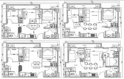 Fully Furnished Apartments CAD File