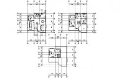 Fully furnished House CAD Plan Dwg File