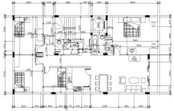 Furnished 4 BHK Bungalow Design Architecture Plan