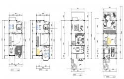 Furnished House Layout Plan AutoCAD Drawing