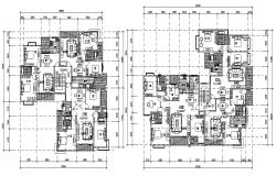 Furnished Luxurious Apartment Design Architecture Plan