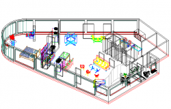 Furnished department detail dwg file