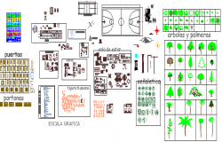 Furniture, Toilets, Home Decor Multi-Purpose Blocks dwg file