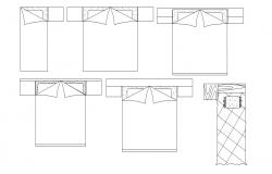 Furniture Bed Elevation AutoCAD Drawing