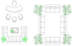 Furniture Blocks Elevation AutoCAD Drawing Free Download