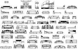 Furniture CAD blocks 2d drawing