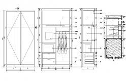 Furniture Cupboard Drawing DWG File