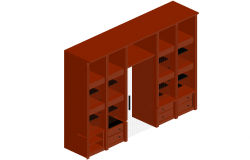 Furniture Detail of cupboard in 3d