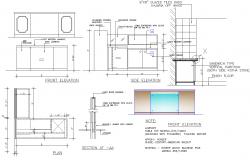 Furniture Table plan dwg file