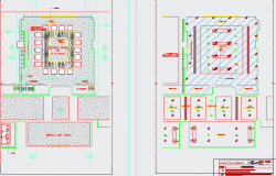 Furniture and ceiling layout for meeting rooms