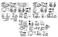 Furniture and other CAD block detail 2d view layout autocad file