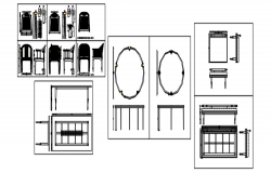Furniture detail in autocad