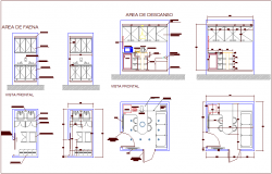 Furniture different types for admin area dwg file