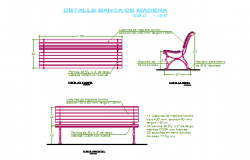 Furniture elevation detail dwg file